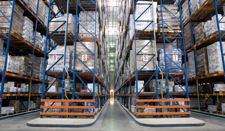 Frazier Sentinel Selective Pallet Racking stores product in a refrigerated warehouse.