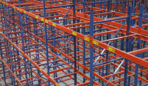 Vacant positions of Frazier's Sentinel Selective pallet racking.