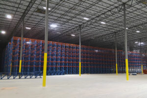 A Drive-In pallet rack system.