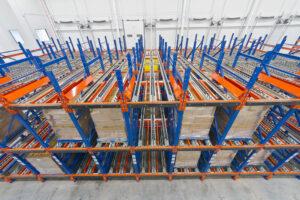 A Pallet Flow rack system.