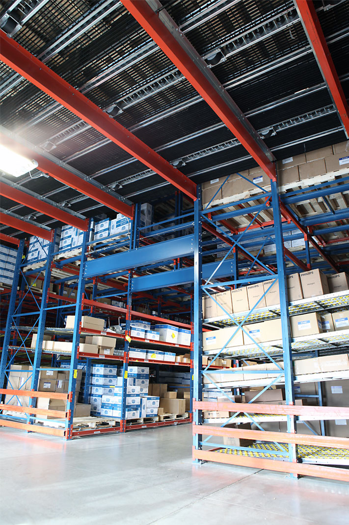 A Pick Tunnel pallet racking system.