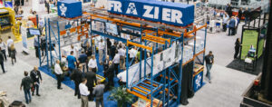 Frazier showcases storage solutions at a trade show event.